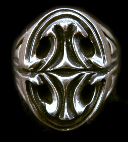 画像1: Sculpted Oval Large Signet Ring