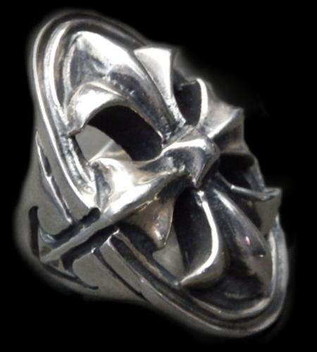画像1: Cross Oval Ring