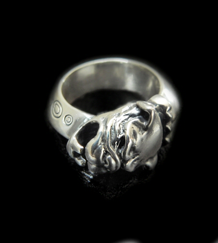 画像1: Single Old Bulldog Triangle Wire Bangle Ring