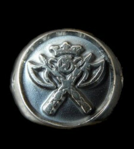 画像1: Battle-Ax Round Stamp Ring