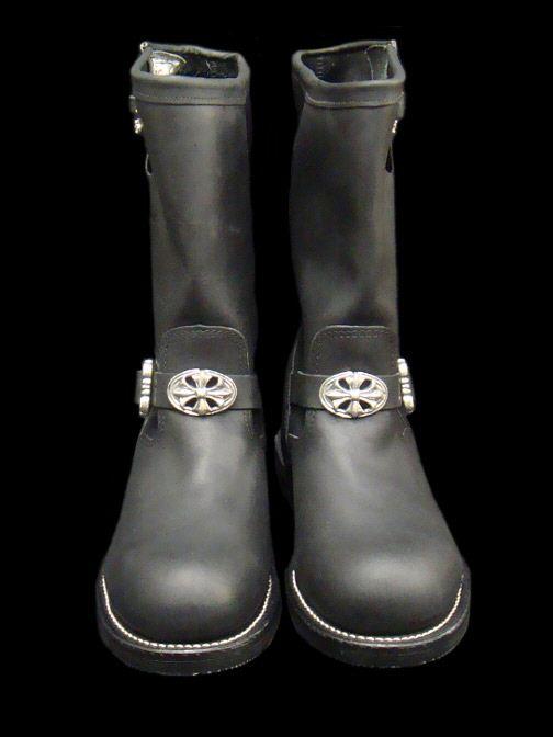 画像1: Long Boots with Cross Oval