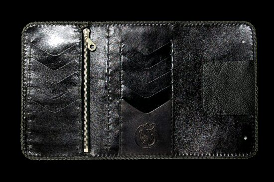 画像4: Crocodile Cross Inlay Buffalo Long Wallet