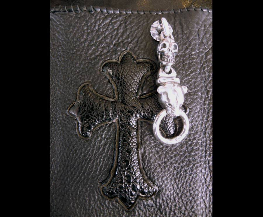 画像3: Skull link With Panther Wallet Ring