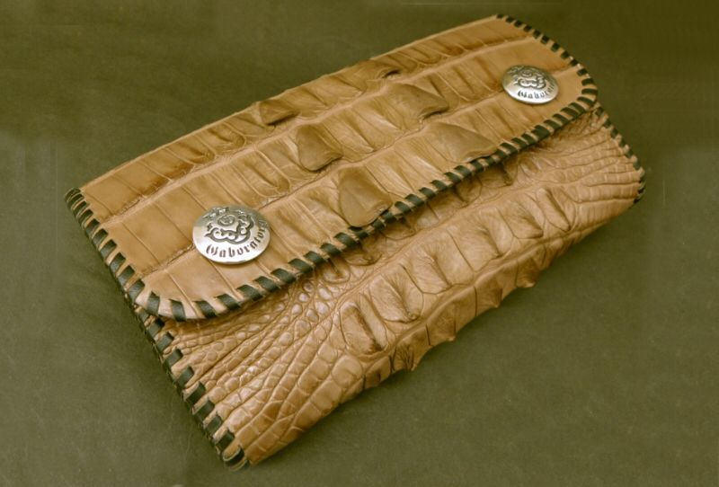 画像5: Crocodile Tail W-Spine Long Wallet