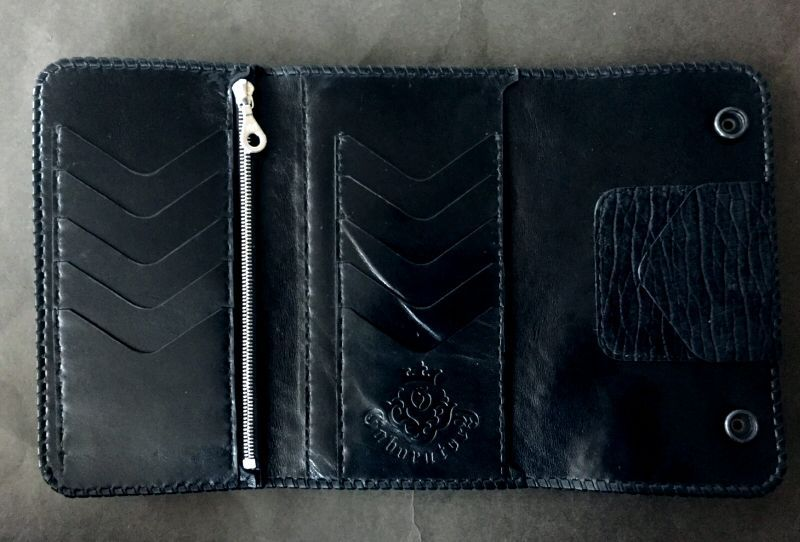 画像2: Stingray G&Crown Inlay Hippo Long Wallet