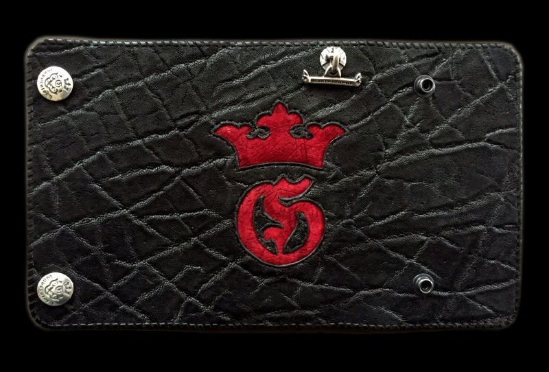 画像1: Hippo G&Crown Inlay Elephant Long Wallet