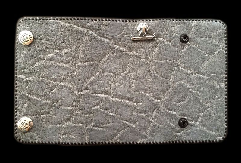 画像1: Elephant Plain Long Wallet (Gray)