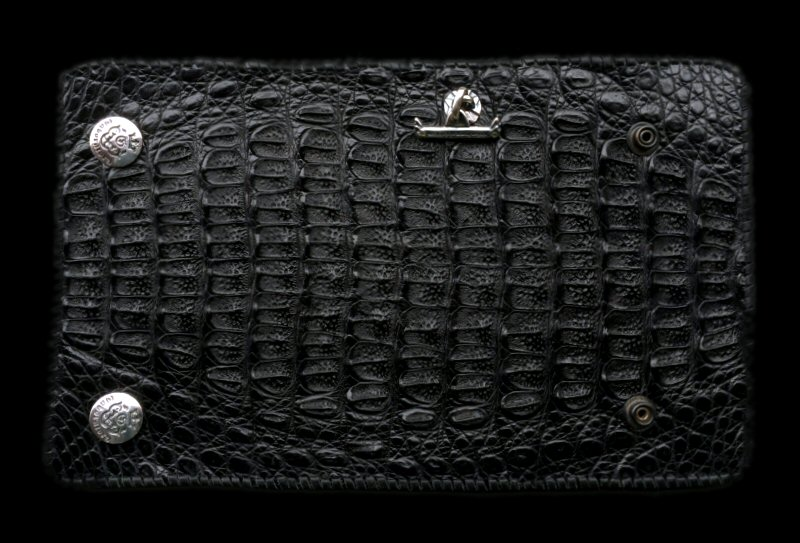 画像1: Crocodile HornBack Plain Long Wallet