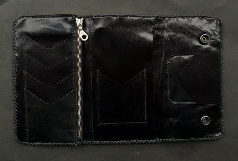 画像2: Crocodile HornBack Plain Long Wallet
