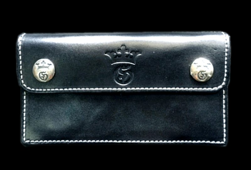 画像1: G&Crown Long Wallet Early model (Black)