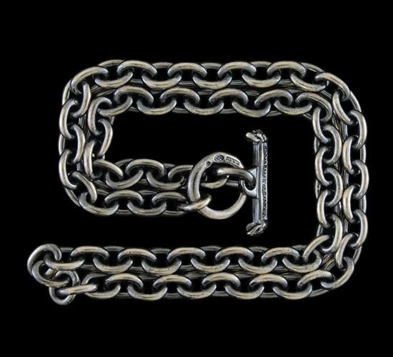 画像2: 7Chain & Quarter T-bar Necklace
