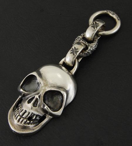 画像2: Giant Skull With Chiseled Anchor Wallet Hanger
