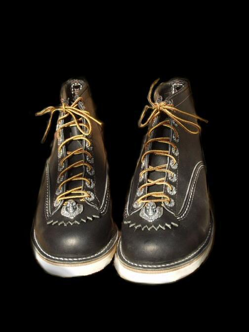 画像1: Short Boots with Skull Wing