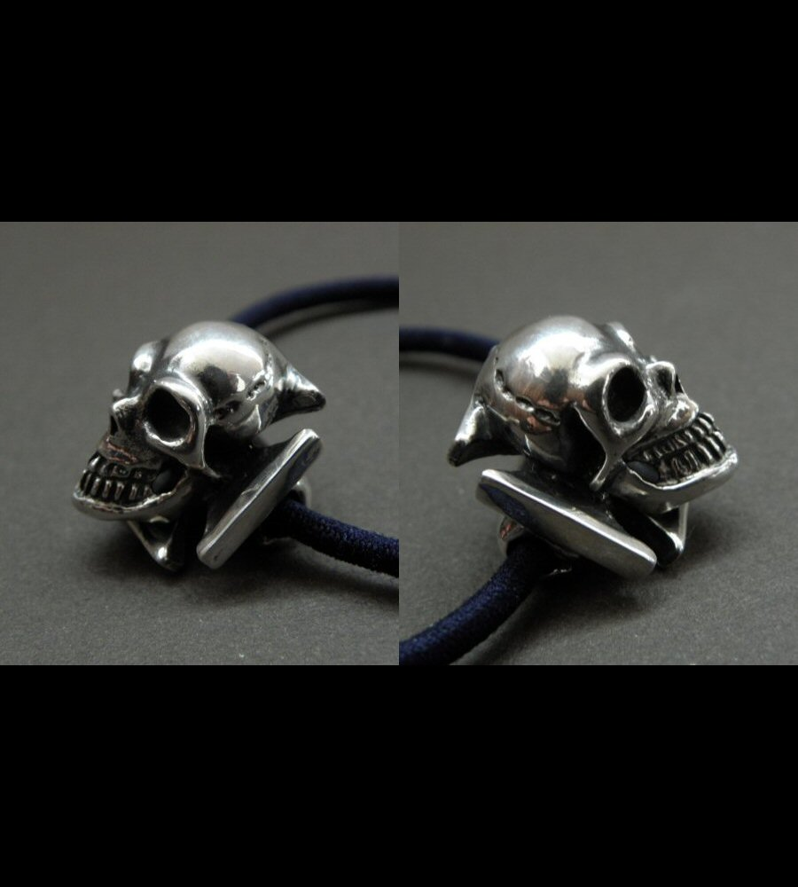画像5: Skull On Iron Cross Hair Band