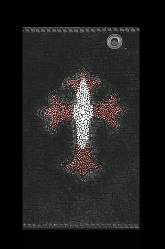 画像2: Stingray(Star) Cross Inlay Hippo Long Wallet