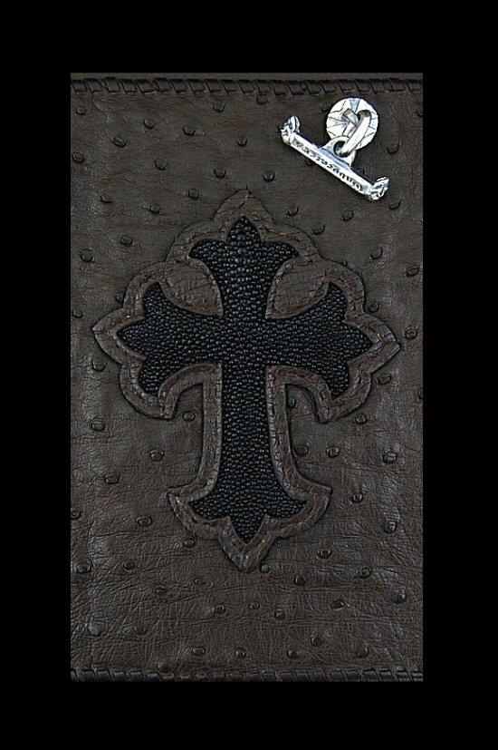 画像2: Stingray Cross Inlay Ostrich Long Wallet