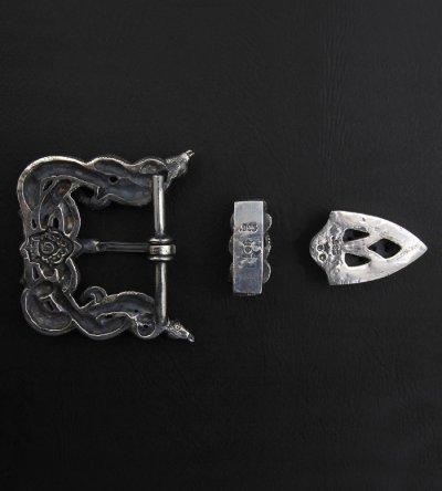 画像2: Large Snake & Buffalo Skull Belt Buckle