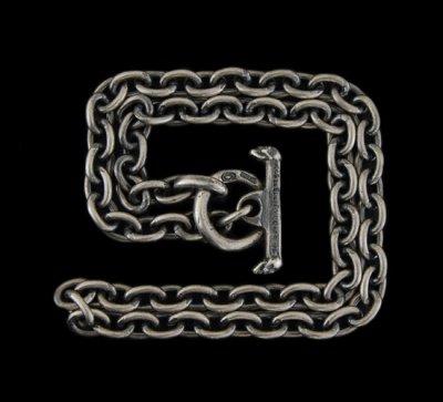 画像2: 7Chain & Half Skull T-bar Necklace
