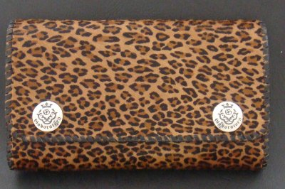 画像3: Unborn Calf Medium Leopard Long Wallet