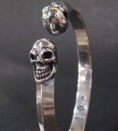 画像3: Half Skull Triangle Wire Bangle