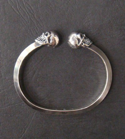 画像5: Half Skull Triangle Wire Bangle