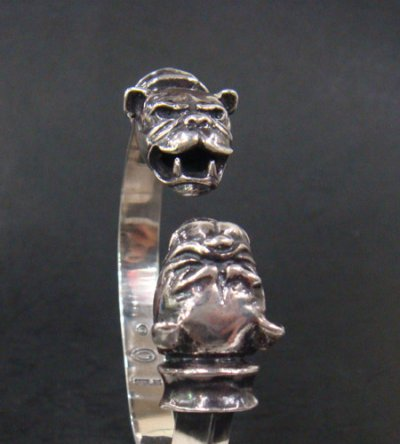 画像2: Old Bulldog With Bolo Neck Triangle Wire Bangle