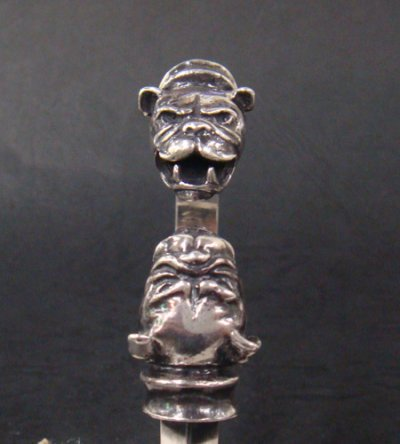 画像3: Old Bulldog With Bolo Neck Triangle Wire Bangle