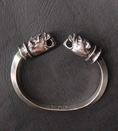 画像4: Old Bulldog With Bolo Neck Triangle Wire Bangle