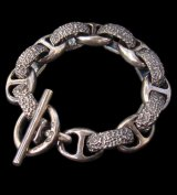Chiseled H.W.O & Anchor Chain Links Bracelet
