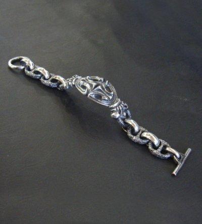 画像3: Crown Sculpted Oval With H.W.O & Chiseled Anchor Chain Bracelet