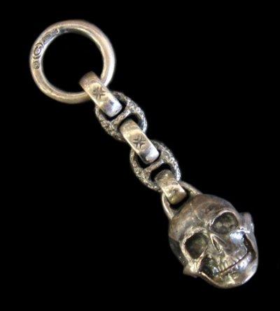 画像1: Half Large Skull Wallet Hanger
