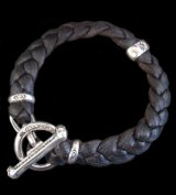 H.W.O braid leather bracelet