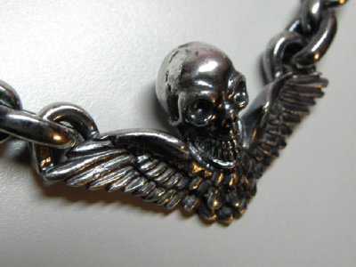 画像4: Wing Skull & Chain Links Necklace