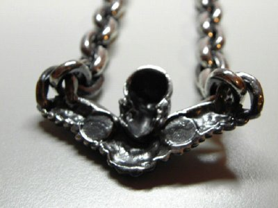 画像5: Wing Skull & Chain Links Necklace