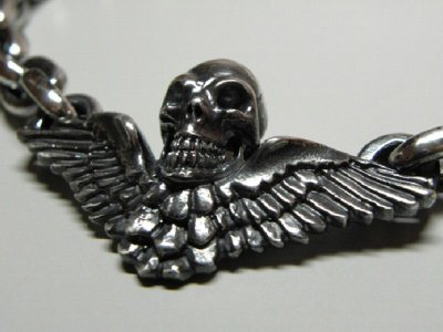 画像3: Wing Skull & Chain Links Necklace