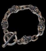 Skull & Chain Link Bracelet