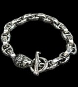 Quarter Lion With H.W.O & Chiseled Anchor Links Bracelet