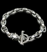 Quarter Old Bulldog With H.W.O & Chiseled Anchor Links Bracelet
