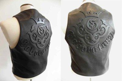 画像4: Gaboratory Tailored Leather Vest (Atelier mark art work)