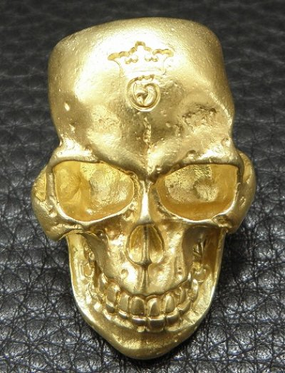 画像2: 10K Gold Large Skull H,W,O Ring ( Pure Gold Color Finish)