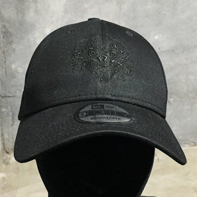 画像2: Triple Skull Cap (Black Embroidery)