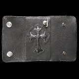 Lizard Traditional Cross Inlay Buffalo Long Wallet