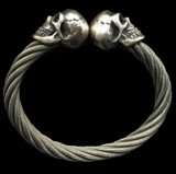 Miracle Skull Cable Wire Bangle