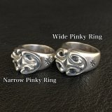 Sculpted Oval Narrow Pinky Ring & Sculpted Oval Wide Pinky Ring