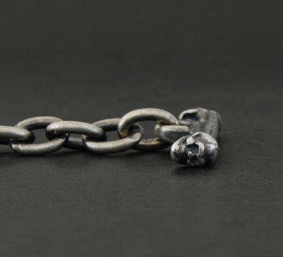 画像5: 7Chain & Half Skull T-bar Necklace