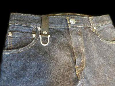 画像4: Gaboratory Reinforced Jeans with Stingray inlay Cow hide pocket