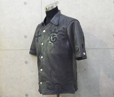 画像2: Gaboratory Tribal Leather Shirt (Short sleeve)