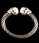 Skull Cable Wire Bangle
