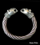 Bulldog With Stud Bolo Neck Cable Wire Bangle