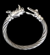 Rhinoceros & Alligator Cable Wire Bangle